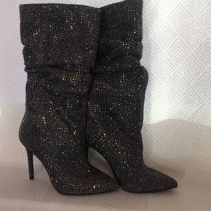 Jessica Simpson LayzerSlouchy Rhinestone Boots 7.5